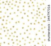golden stars confetti...   Shutterstock . vector #344797316