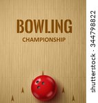 illustartion of bowling... | Shutterstock .eps vector #344798822
