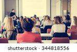 audience at business conference....   Shutterstock . vector #344818556