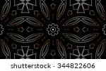 decorative elegant golden metal ... | Shutterstock . vector #344822606