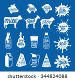 vector cheese and milk logo.... | Shutterstock .eps vector #344824088