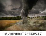 View Of A Large Tornado...