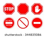 stop sign set  isolated on...