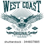 west coast original image...   Shutterstock .eps vector #344837885