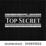 top secret chalkboard emblem...   Shutterstock .eps vector #344845826