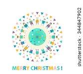 greeting christmas. children ... | Shutterstock .eps vector #344847902