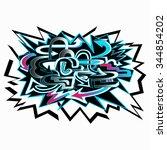 colored graffiti background...   Shutterstock .eps vector #344854202