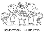 family doctor with his patients ... | Shutterstock .eps vector #344854946