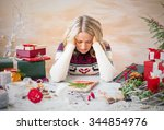 Woman Depressed With Christmas...