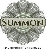 summon money style rosette | Shutterstock .eps vector #344858816