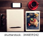 food blog concept for recipes...   Shutterstock . vector #344859242