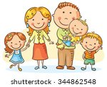 happy family with three...   Shutterstock .eps vector #344862548