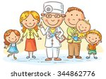 family doctor with his patients ... | Shutterstock .eps vector #344862776