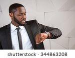 portrait of handsome afro... | Shutterstock . vector #344863208