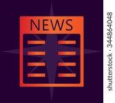 news vector icons | Shutterstock .eps vector #344864048