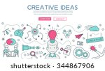creative idea for website... | Shutterstock .eps vector #344867906