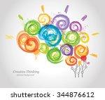 creative human brain in the... | Shutterstock .eps vector #344876612