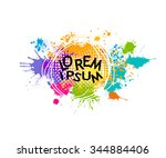 colored spray paint with a... | Shutterstock .eps vector #344884406