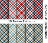 set of ten tartan patterns | Shutterstock .eps vector #344892392