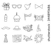 coloring gift icons | Shutterstock .eps vector #344895686