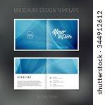 vector abstract brochure design ... | Shutterstock .eps vector #344912612