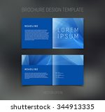 vector abstract brochure design ... | Shutterstock .eps vector #344913335