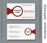 modern two sided visiting card  ... | Shutterstock .eps vector #344914226