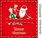 vector banner  cute figurines...   Shutterstock .eps vector #344929022