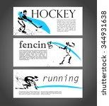 vector sport advertising... | Shutterstock .eps vector #344931638