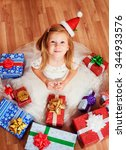 little pretty girl with... | Shutterstock . vector #344933576