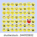 yellow emotions set   Shutterstock .eps vector #344935832