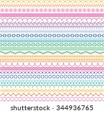 embroidery stitch border... | Shutterstock .eps vector #344936765