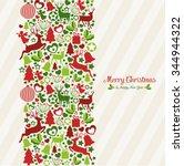 christmas card | Shutterstock .eps vector #344944322