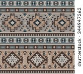 seamless ethnic pattern design | Shutterstock .eps vector #344947262