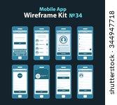 mobile wireframe app ui kit 34. ...
