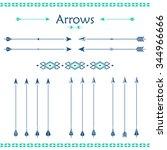 big set of different vector... | Shutterstock .eps vector #344966666