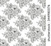 elegant seamless pattern with... | Shutterstock . vector #344980376