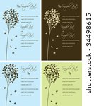 wedding invitation panels | Shutterstock .eps vector #34498615