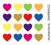 hearts | Shutterstock . vector #344989622