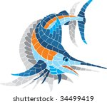 Mosaic Figure Of Swordfish