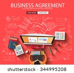 business agreement concept wih... | Shutterstock .eps vector #344995208