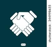 handshake vector illustration | Shutterstock .eps vector #344998655