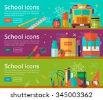 vector flat design of education ... | Shutterstock .eps vector #345003362