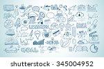 business doodles sketch set  ... | Shutterstock .eps vector #345004952