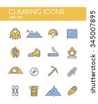 set of line vector icons on the ... | Shutterstock .eps vector #345007895