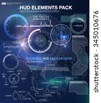 hud background outer space.... | Shutterstock .eps vector #345010676