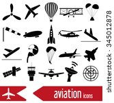 Aviation Big Set Of Simple...