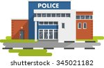 city police station department... | Shutterstock .eps vector #345021182