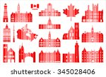 Stock vector vector graphic symbols of canada 345028406