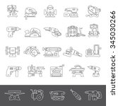 line icons   power tools | Shutterstock .eps vector #345030266